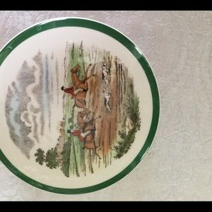 Spode hunting dish with lid